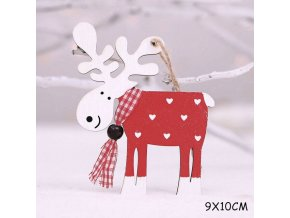 20 variant 2021 new year natural xmas elk wood craft christmas tree ornament noel christmas decoration for home wooden pendant navidad gift (1)