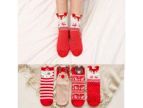 0 main christmas woman socks cartoon santa claus elk animal pattern socks holiday warm fashion cartoon christmas socks 1 pair