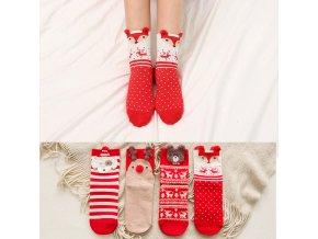 0 main christmas woman socks cartoon santa claus elk animal pattern socks holiday warm fashion cartoon christmas socks 1 pair