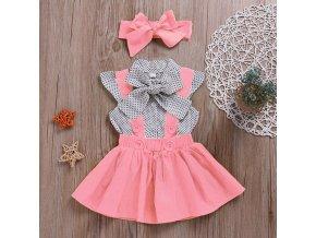 Dětské šaty s čelenkou