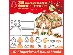 Sada na výrobu 3D vánoční chaloupky