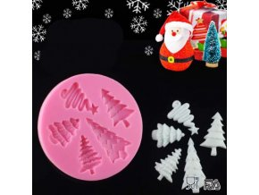 1 main christmas trees shaped 3d cake chocolate moldice cream silicone molds fondant soap mould kitchen bakeware h902