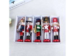 0 main new year decor kids doll 1pcs 12cm wooden nutcracker soldier merry christmas decoration pendants ornaments for xmas tree decorq