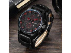 Pánské hodinky s koženkovým páskem CRY4