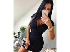 0 variant summer dress 2020 fall women sexy casual knit sheath mini dresses ladies solid v neck chest button short sleeve bodycon dress