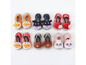 Dětské boty s veselými zvířátkycute animal summer rubber sole anti slip toddler shoes