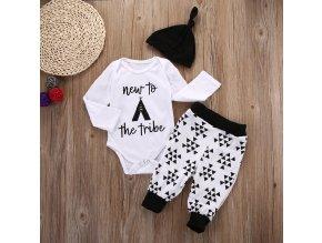 1 main newborn toddler infant baby boys girls tops bodysuit long pants hat 3pcs outfits playsuit clothes