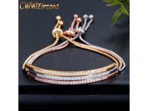 0 main cwwzircons adjustable bracelet bangle for women captivate bar slider brilliant cz rose gold color jewelry pulseira feminia cb089