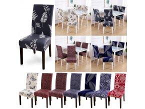 Elastické potahy na židle se vzory