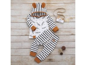 0 main winter autumn baby newborn baby boy girl clothes feather rompers tops striped pants clothes outfits set vetement enfant fille
