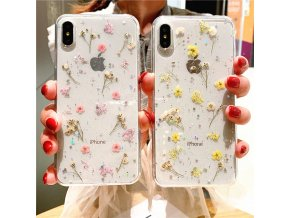 0 main real dry flower glitter clear case for iphone 8 7 plus 6 6s epoxy star transparent case for iphone x xr 11 pro xs max soft cover