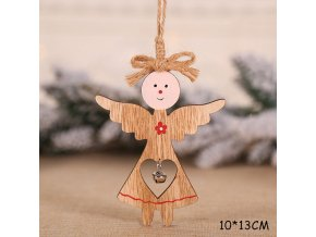 21 variant new year 2021 latest natural wood christmas tree ornament star heart wooden pendant noel christmas decoration for home xmas gift