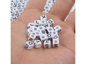 5 variant mixed letter acrylic beads round flat alphabet digital cube loose spacer beads for jewelry making handmade diy bracelet necklace