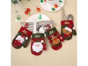 Kuchyňské vánoční chňapky SANTA