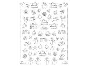 Obtisky na nehty s vánočními motivy Eve