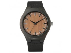 1 variant yisuya nature stripe wood wrist watch men simple bamboo woodenleather band watches women unisex clock hour gifts for christmas
