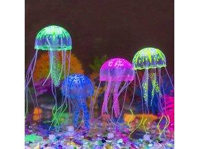 Světélkující umělá medúza do akvária