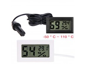 0 main mini convenient digital lcd thermometer sensor hygrometer gauge refrigerator aquarium monitoring display humidity detector