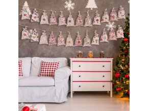 4 main 24pcs christmas advent calendar countdown bag hanging candy gift sacks pouch with clips stickers rope home christmas decoration