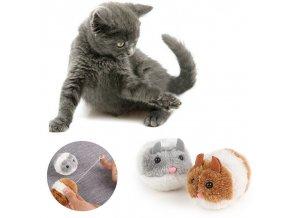 Hračky pro kočky - plyšová myš