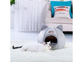 Plyšový pelíšek pro kočky SLEEP