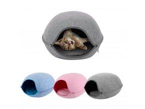Oválný pelíšek pro kočky FELT