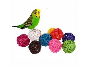 Hračky pro papoušky - barevná kulička