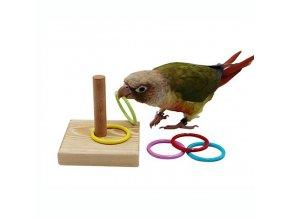 Hračky pro papoušky - barevné kroužky