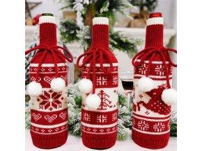 Vánoční obal na láhev CHRISTMAS