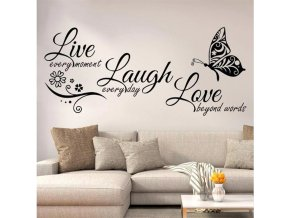 Samolepky na zeď Live Laugh Love