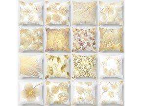 Povlaky na polštáře Golden Flowers