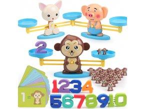 0Montessori hračky - váha ZOO