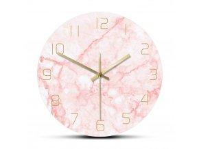 Nástěnné hodiny Pink Ocean