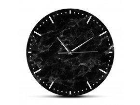 Nástěnné hodiny Dark Black