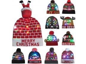 Zimní čepice - na vánoce