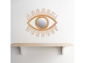 Dekorace do bytu - ratanový rám na zrcadlo