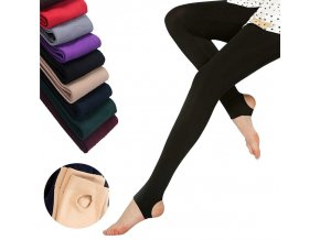 0 main 2020 autumn winter woman thick warm leggings candy color brushed charcoal stretch fleece pants trample feet leggings