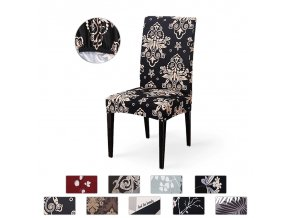 0 main spandex elastic printing dining chair slipcover modern removable anti dirty kitchen seat case stretch chair cover for banquet