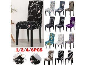 0 main 1246pcs printed elastic stretch chair cover spandex dinning room kitchen chair slipcovers protector for wedding banquet party
