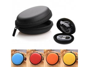 0 main hard zippered round shape earphone case usb cable organizer earphone bag headset box hand spinner portable