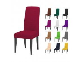 Jednobarevný potah na židle Anna