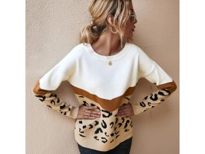 mainimage02020 Fashion Leopard Women Sweater Autumn Winter Ladies O Neck Full Sleeve Casual Jumper Knitted Female