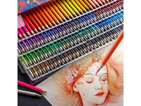 mainimage1Brutfuner 48 72 120 160 180Color Professional Oil Color Pencils Wood Soft Watercolor Pencil For School