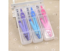 mainimage0school compass Cute girl stationery student drawing compasso brujula geometry set circulos de madera math set