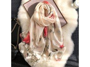 12 variant silk scarf women print scarf flowerbirdsleafchains 100 natural silk wraps shawls and scarves 18090cm hijabs