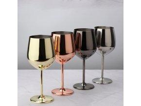 Metalické sklenice na víno FANCY