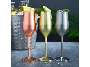 Metalické sklenice na šampaňské LUXURY