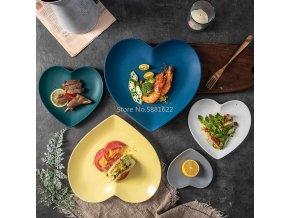 Keramické talíře HEART