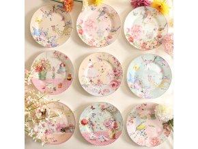Porcelánové talíře SPRING