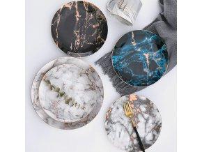 Mramorové keramické talíře STYLE